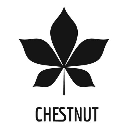 Chestnut leaf icon, simple black style
