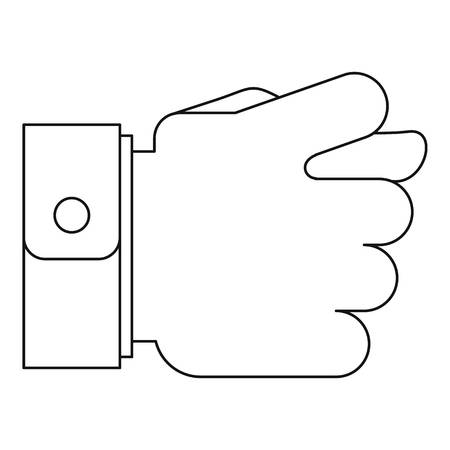 Fig gesture icon, outline style. Stock Photo