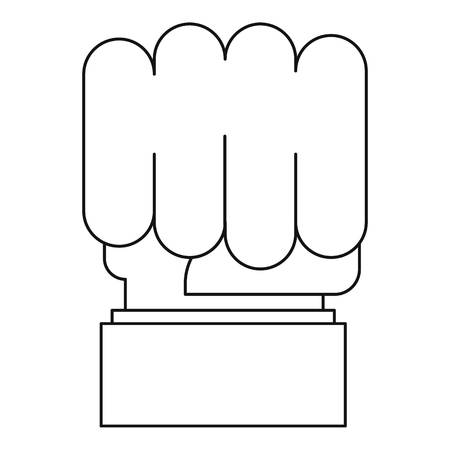 Big fist icon, outline style. 스톡 콘텐츠