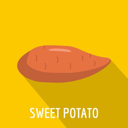 Sweet potato icon, flat style.