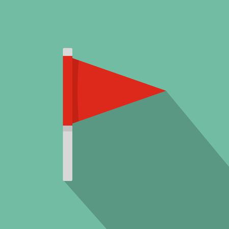 Destination flag icon, flat style.