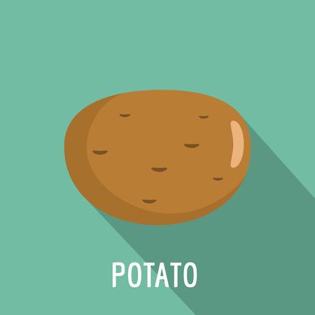 Potato icon, flat style. Stock Photo