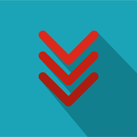 Pointing arrow icon, flat style. Banque d'images