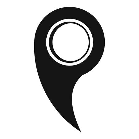 Gps mark icon. Simple illustration of gps mark  icon for web