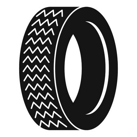 Vehicle tire icon, simple style.