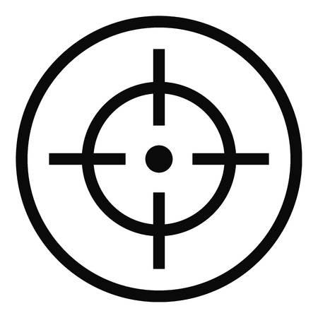 Telescope icon, simple style.