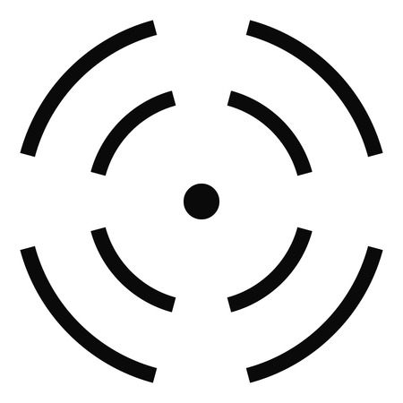 Point radar icon, simple style.