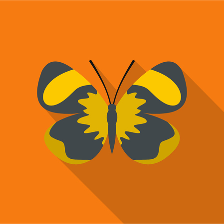 Small butterfly icon, flat style.