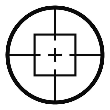 Aiming device icon. Simple illustration of aiming device  icon for web