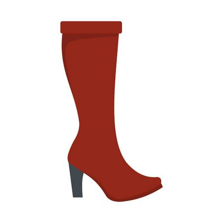 Woman boots icon. Flat illustration of woman boots  icon isolated on white background Foto de archivo