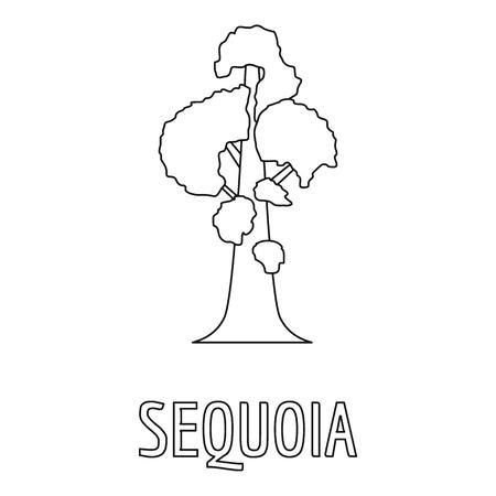 Sequoia icon. Outline illustration of sequoia  icon for web