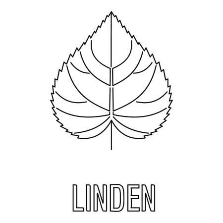 Linden leaf icon, outline style.