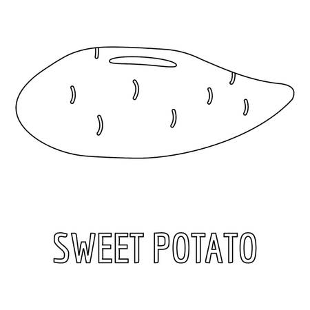 Sweet potato icon. Outline illustration of sweet potato  icon for web