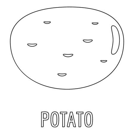 Potato icon, outline style.