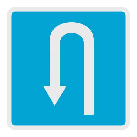 Place for reversal icon, flat style.