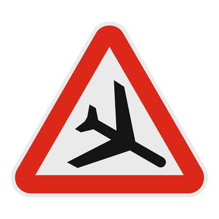 Airplane icon, flat style.