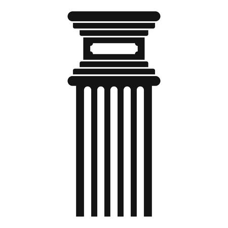 Antique column icon, simple style. Фото со стока