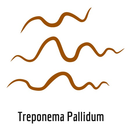 Treponema Pallidum icon, cartoon style.