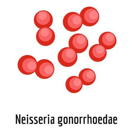 Neisseria gonorrhoedae icon, cartoon style.