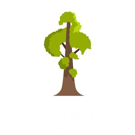 Sequoia icon, flat style