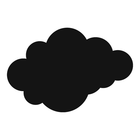 Cloud with downfall icon, simple style.