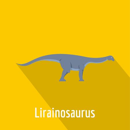 lirainosaurus icon, flat style.