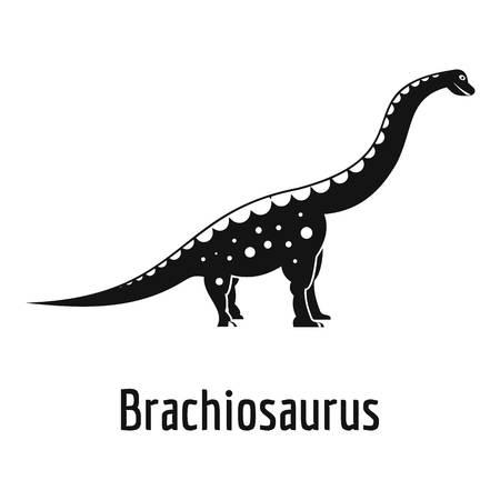 Brachiosaurus icon, simple style.