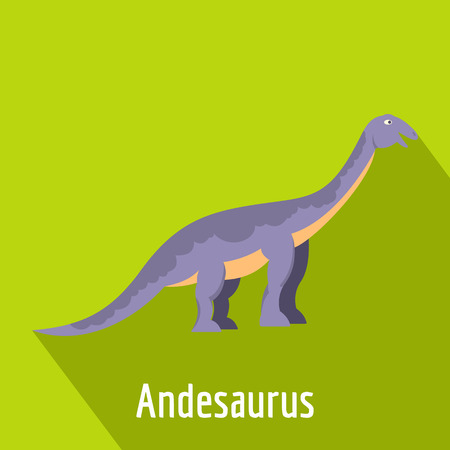 Andesaurus icon, flat style.