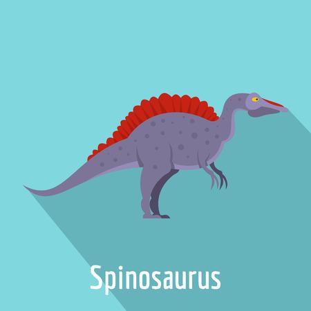 Spinosaurus icon, flat style.