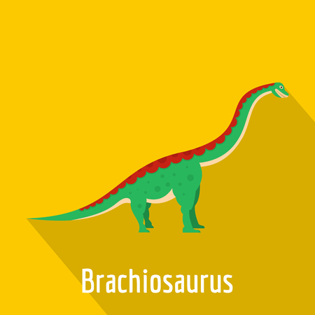 Brachiosaurus icon, flat style.