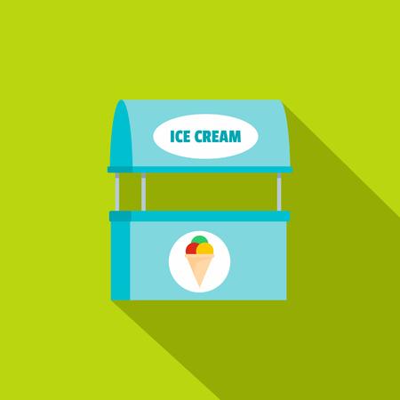 Ice creme selling icon. Flat illustration of ice creme selling  icon for web.