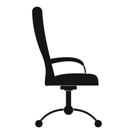 Massage chair icon. Simple illustration of massage chair  icon for web. Stock Photo