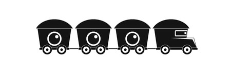 Train with cargo icon. Simple illustration of train with cargo  icon for web. Imagens