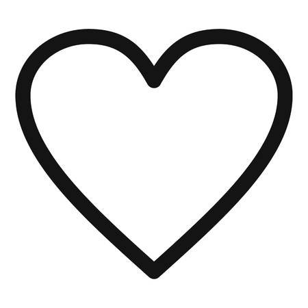 Ardent heart icon. Simple illustration of ardent heart  icon for web.