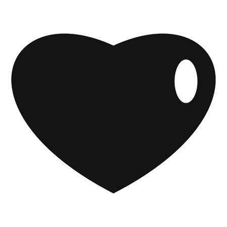 Three-dimensional heart icon. Simple illustration of three-dimensional heart  icon for web. 스톡 콘텐츠
