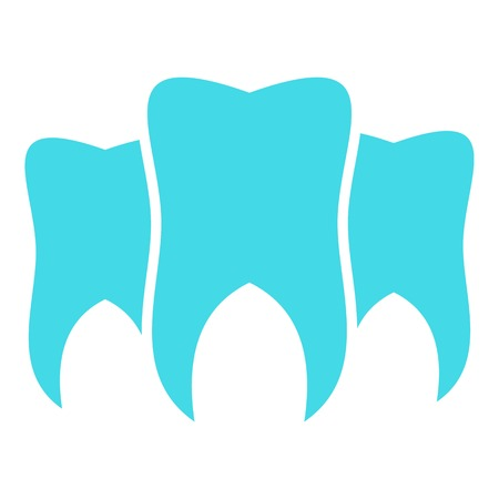 Brittle tooth logo icon. Flat illustration of brittle tooth  icon for web. 写真素材