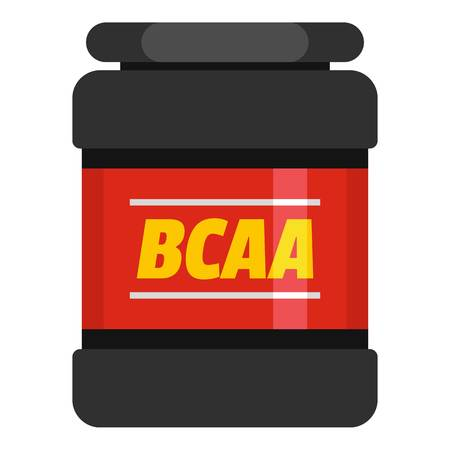BCAA icon. Flat illustration of BCAA  icon for web. 写真素材