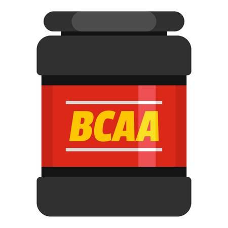 BCAA icon. Flat illustration of BCAA  icon for web. Stock Photo