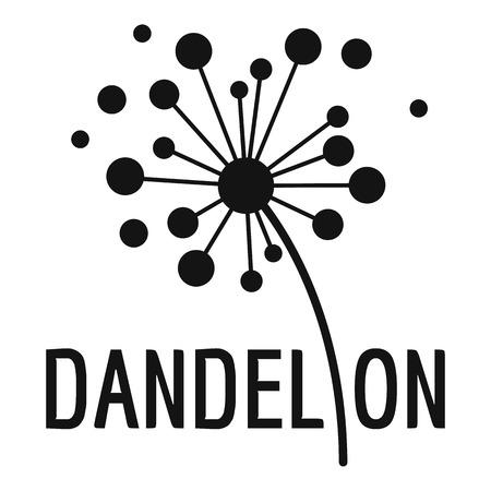 Icono de logotipo de diente de león seco. Ilustración simple del icono de diente de león seco para web.