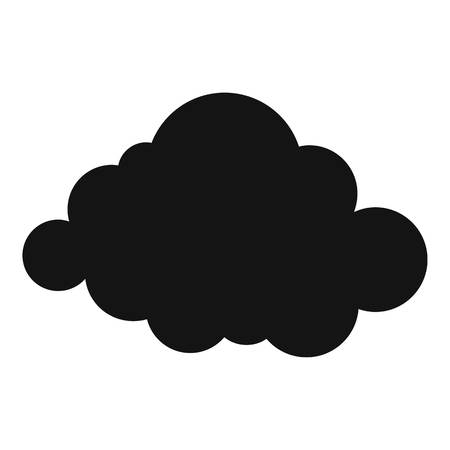 Deformed cloud icon. Simple illustration of deformed cloud  icon for web Stock Photo
