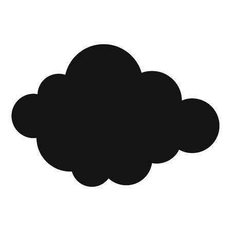 High layered cloud icon. Simple illustration of high layered cloud  icon for web Stock Photo