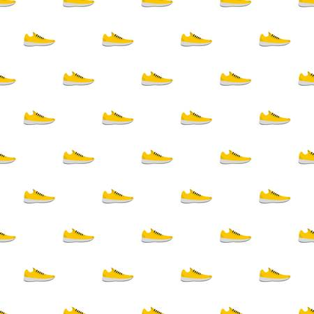 Sneakers pattern seamless in flat style for any design