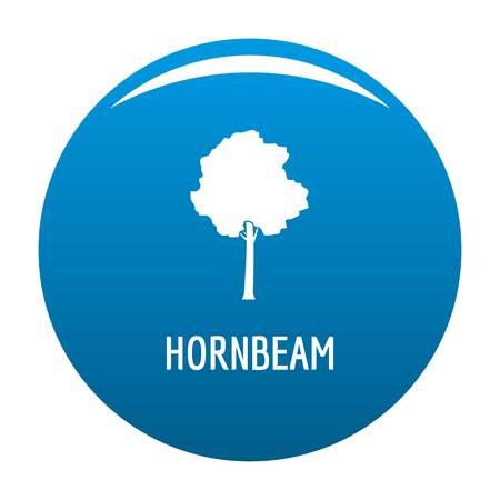 Hornbeam tree icon  blue circle isolated on white background
