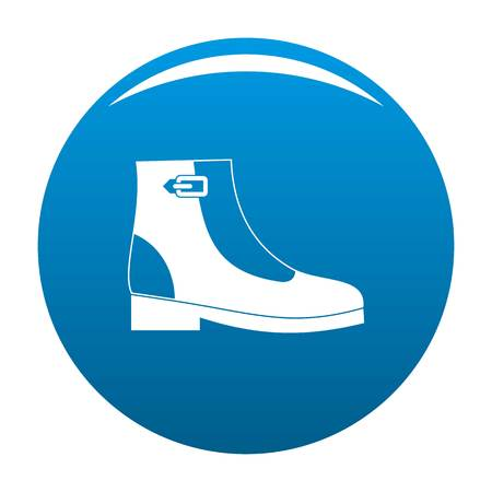Woman boots icon  blue circle isolated on white background Foto de archivo