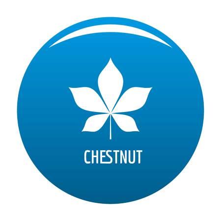 Chestnut leaf icon  blue circle isolated on white background