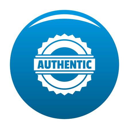 A simple illustration of authentic logo for web