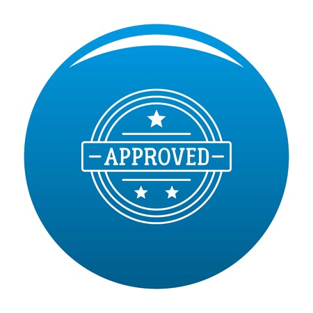 Approved logo. Simple illustration of approved logo for web Stok Fotoğraf