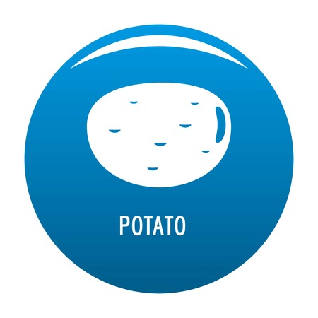 Potato icon blue circle isolated on white background