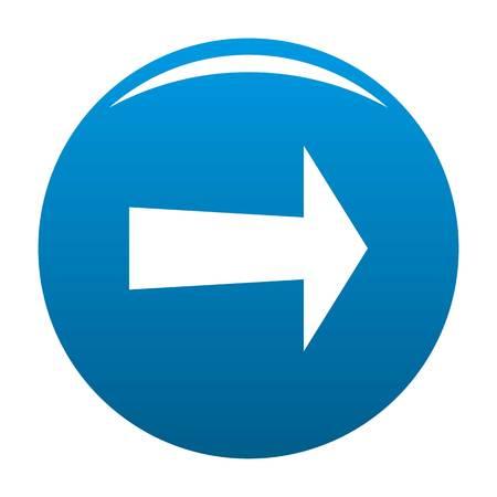 Arrow icon blue circle isolated on white background Stock Photo