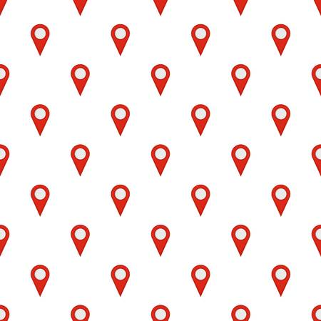 Location mark pattern seamless in flat style for any design Stock Photo